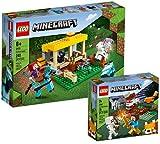 Collectix Lego Set - Minecraft Der Pferdestall 21171 + Minecraft Das Taiga-Abenteuer 21162