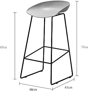 87432000699b BBG Moda Creativa Muebles pequeños Taburete Antideslizante Reposapiés  Taburetes escalonados Silla de Bar de Metal PP