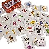 Gobus 56pcs flash card cognizione puzzle carte storia parole forma abbinamento puzzle educazione precoce carta apprendimento giocattoli in una scatola (articoli cognizione)