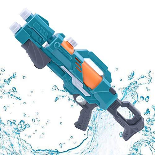 Toy Leistungsstarke Wasserpistole 2 Düsen Pump Action 10m Fernschießwasserpistole Super Soaker Blaster für Kinder Erwachsene Summer Beach Swimmingpool Blue