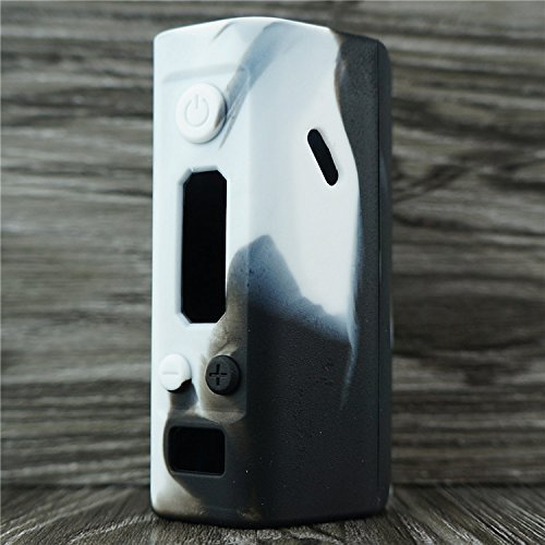 Silicone Case for Wismec Reuleaux RX200 Sleeve Cover Skin Wrap (White/Black)