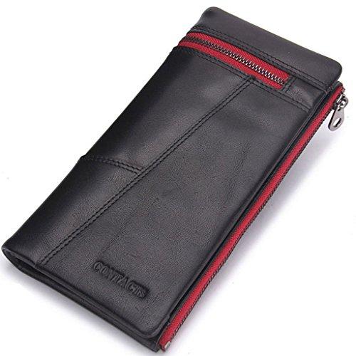Portemonnee voor heren, portemonnee met ritssluiting, munttas, munttas, met ritssluiting