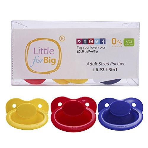 Littleforbig LittleForBig 大人用おしゃぶり乳首 ABDL 3個セット [8432]