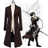 Shingeki No Kyojin Cosplay Jacket Man Donne Trench Coat Cosplay Nero Memory meteor Lattacco dei Giganti