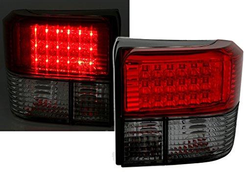 LED Rückleuchten Set, Klarglas Rot-Schwarz