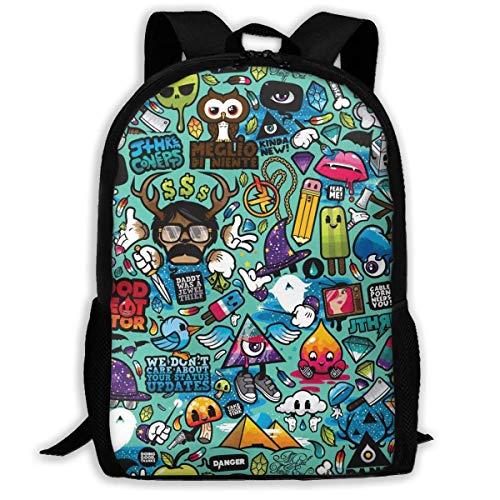 hengshiqi Mochila Backpack, Travel Backpack Laptop Backpack Large Diaper Bag - Art Drawing Backpack School Backpack for Women & Men