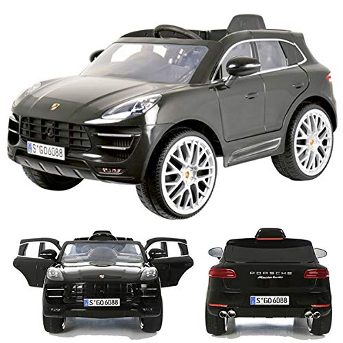 Rollplay Porsche Macan Turbo 12V viele LED Effekte Soft Start Kinderauto Kinderfahrzeug Kinder Elektroauto Grey*