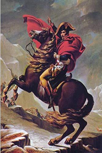 qianyuhe Cuadros artísticos de Pared Napoleón Bonaparte, Carteles artísticos con Retrato de Caballo e Impresiones escandinavas para decoración de Sala de Estar, 60x90cm (24x36 Pulgadas