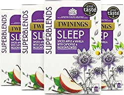 This is a deliciously smooth and serene blend. The apple & vanilla flavourings are the camomile bring a touch of comforting sweetness, with a dash of cinnamon-reminiscent of apple pie with vanilla ice cream. Passionflower contributes to normal sleep....
