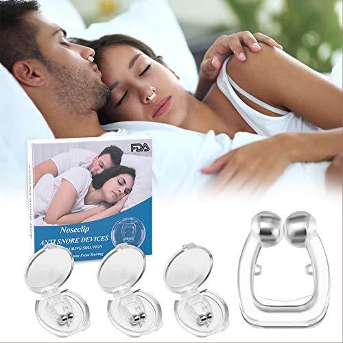 RIRGI antironquidos para dormir Clip Nasal Magnético, Dilatador Nasal para Detener los Ronquidos, Facilitar la Respiración y Dormir Cómodo, 3 Piezas