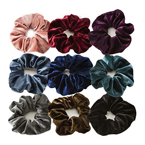 Haargummis Big Velvet Hair Bobbles Elastische weiche Haarbänder Krawatten für Mädchen Frauen