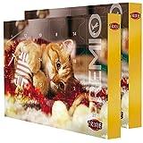 TRIXIE Calendario de Adviento Premio para gatos con diferentes golosinas en pack doble.