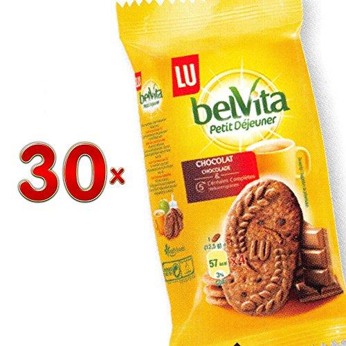 BelVita Petit Dejeuner Chocolat Cereal 30 x 50g Packung (belVita-Keks mit Schokolade)