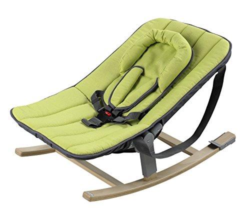 Geuther - Rocco Baby-Wippe 4705 für Hochstuhl Tamino, mit Kufen und Tragebändern, Sicherheitsgurt, leichtes Aufstecken mit separat erhältlichen Adaptern 4705AD, grün
