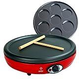 Masterchef Junior Crepera Easy Party- Potenza 1000 W, 2 Piastre antiaderenti intercambiabili per...
