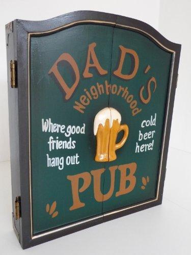 point home Dartschrank Dad\'s Pub, Dartscheibe im Retrolook, 58cm