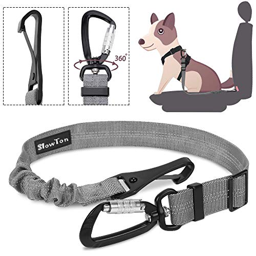 SlowTon Cinturón Perro Coche, Mascotas Cinturón de Segurid