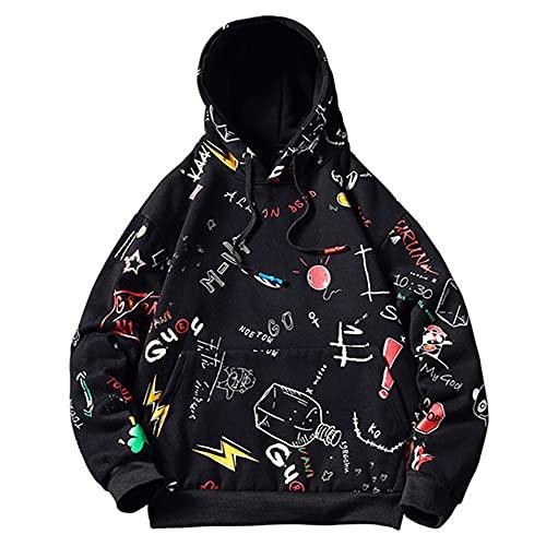 N\P Hombre Casual Hoodie Amarillo Pintado Hip Hop Creativity Streetwear Hombres