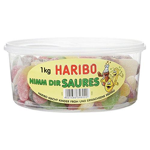 Haribo Nimm Dir Saures, 1er Pack (1 x 1 kg Dose)