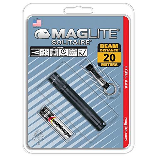 Mag-Lite K3A016 Solitaire Mini Lampe de Poche Métal Noir 8 cm
