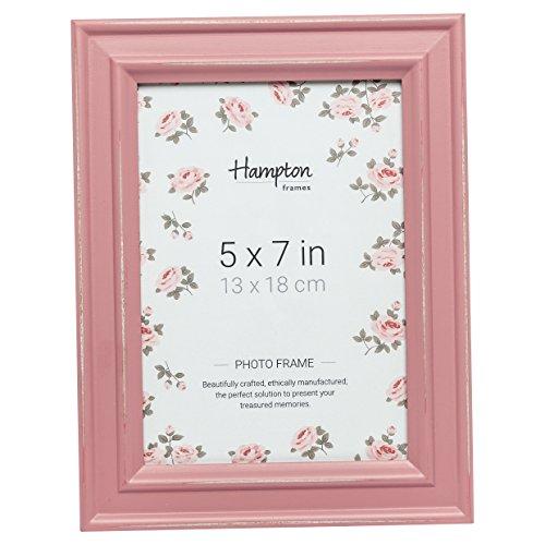 Hampton Frames Paloma Dstrssd-Marco de Madera (12,7 x 17,7 cm), Color Rosa, 5x7 (13x18cm)