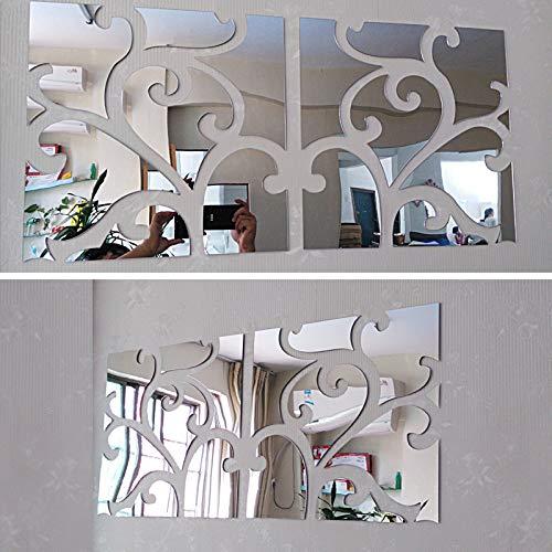 Oulensy Calientes Grandes Pegatinas de Pared Decorativos 3D Que Vive el hogar Moderno de acrílico Espejo Grande todavía Etiqueta de la Pared de la Moda de Bricolaje Superficie Vida