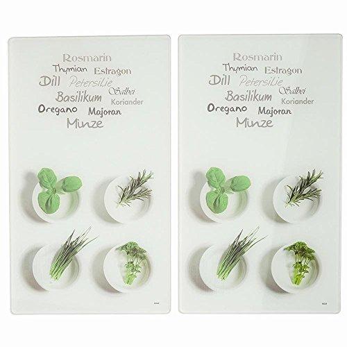 Kesper 2 Tablas para Cortar Decoradas con Hierbas aromáticas