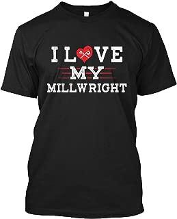 I Love My Mill Wright Tshirt - Hanes Tagless Tee