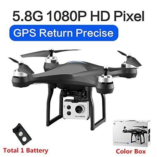 RC Drone GPS Drones met 5G WiFi 1080P HD Groothoek Elektronische camera GPS Intelligent Volgend quadcopter Vlieg 18 minuten Speelgoed, kan als cadeau aan uw kind worden gegeven,Black,1battery