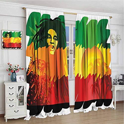 wonderr Print patroon gordijnen, voor kamer donkere panelen voor woonkamer, slaapkamer, regenboog, regenboog gekleurde Chevron Line Art Wave-achtig patroon Symmetrische geometrische vormen, Multi kleuren