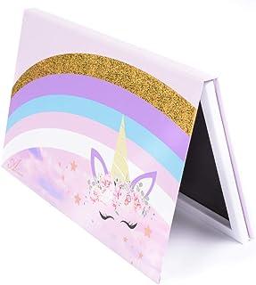 Allwon Magnetisch Palet Eenhoorn Leeg Make-up Palet met 30 Stuks Lijm Leeg Palet Metalen Stickers voor Oogschaduw Lippenst...