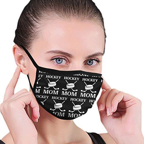 Herbruikbare comfortabele ademende halfgelaatsmaskers windbescherming gezichtsmaskers voor buiten - Hockey Mom