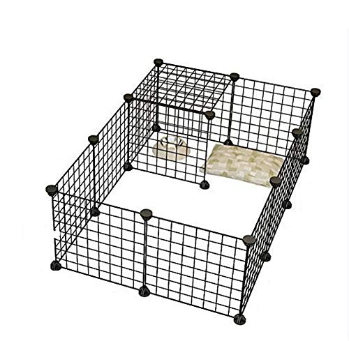 Aida Bz DIY kubus modulaire opslag ijzeren frame, raster hek frame foto frame smeedijzeren huisdier hek huisdier hek 12 stks