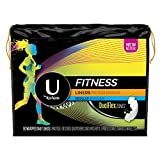 U by Kotex Fitness Panty Liners, Light Absorbency, Regular, Fragrance-Free, 80 Count