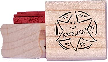 Xclamations X11701 Tampon Auto-encreur pour Enseignant Excellent Couleur Al/étoire