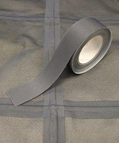Nahtabdichtungsband T-2000X - Heißschmelzkleber 3-Schicht Wasserdicht - 5 Meter - gelten mit Bügeleisen (Dunkelgrau, 28 mm Breite)