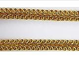 Borte-mit-Stil 2 m Posamentenborte Tracht 10mm breit Farbe: Lurex-Gold