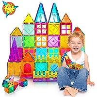 80-Piece Vatenick Magnetic Tiles Kids Building Blocks