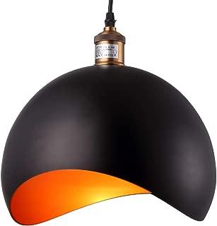 HOMIFORCE UL Listed Vintage Style 1-Light Large Black Demo Pendant Light with Metal Shade in Matte-Black Finish Modern Simplicity Industrial Retro Edison CL2017049 (Virgo Black)