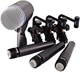 Shure Drum Microphone Kit for Performing and Recording Drummers, Conveniently Packaged Selection of...