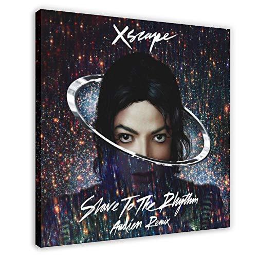 Póster de Michael Jackson con diseño de esclavo al ritmo de 70 x 70 cm, diseño de cuadro de Michael Jackson