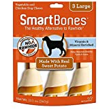 SmartBones Large Chews With Real Sweet Potato 3 Count, Rawhide-Free Chews For Dogs
