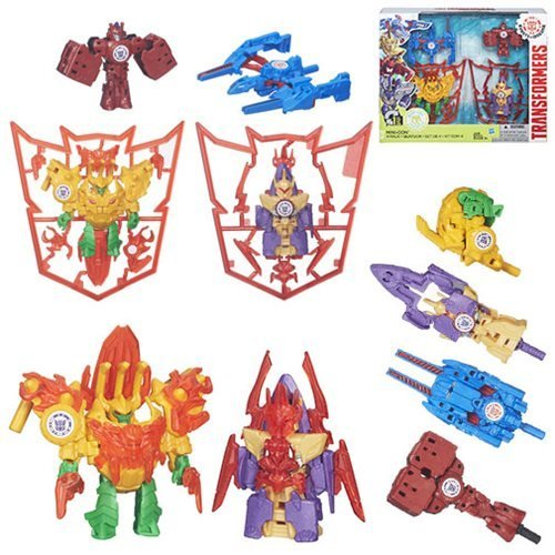 Transformers Robots in Disguise Mini-Con 4 Pack Weapons Club Blaster Sword Claw Weaponizers