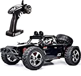 FMTStore 1:12 Scale RC CAR Desert Buggy High Speed 30MPH+ 4x4 Fast Race Cars RTR Racing 4WD Electric Power 2.4GHz Radio Remote Control Off Road Truck (Assorted Color: Black, Gray)