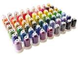 63 Spools Premium Polyester Embroidery Machine Thread - 40 Weight (120D/2) -