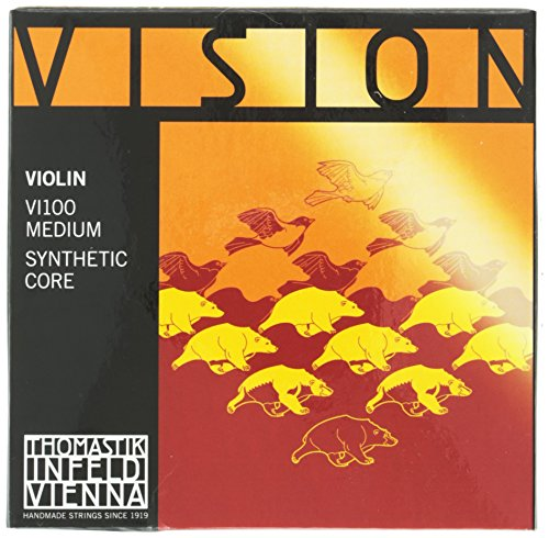 Thomastik Cuerdas para violín Vision Synthetic Core, juego 4/4 mediana
