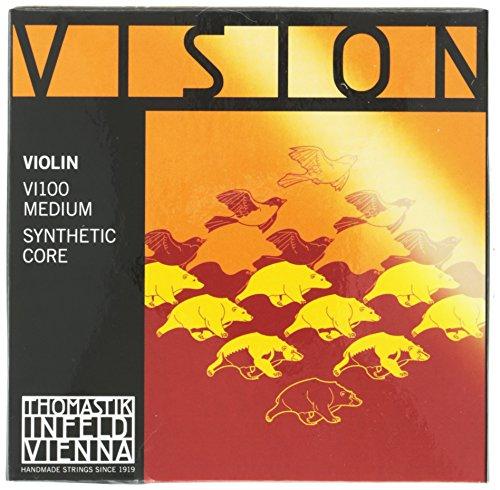 Thomastik 634125 Saiten für Violine Vision Synthetic Core, Satz 4/4 Mittel