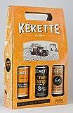 coffret KEKETTE 3 bouteilles 75cl (blonde triple ambrée)
