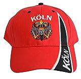 Flaggenfritze Kappe Motiv Deutschland Köln mit Wappen Fahne, fan - Cap mit Kölner Fahne