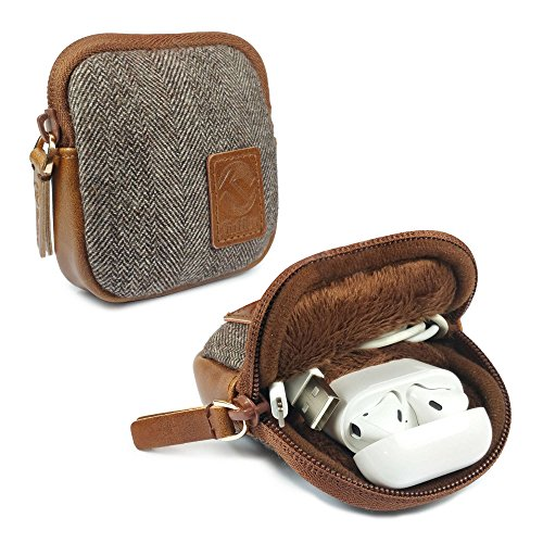 Herringbone Tweed Reise-Tasche für Apple Airpods